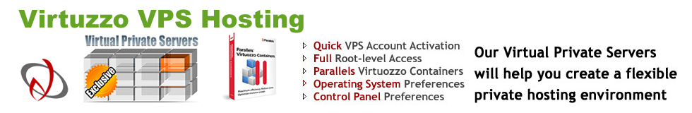 Virtuzzo VPS Web Hosting Plans