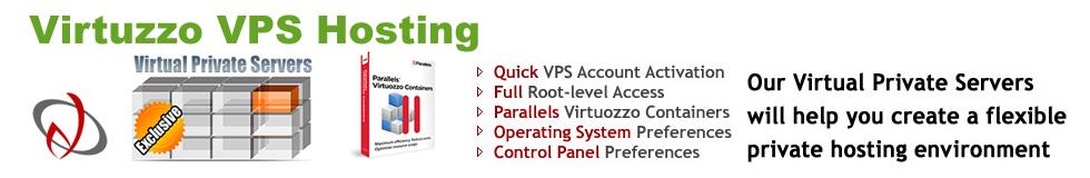 Virtuzzo VPS Web Hosting Plans