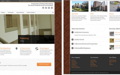 Web Design by ABD Technology For Diamond Touch Construction