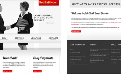 Web Design by ABD Technology For Durham Bail Bond Company