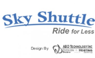 Small-Airport-Sky-Shuttle-Ride-Service-Logo-Design-by-ABD-Technology